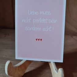 Liebe muss nicht perfekt sein