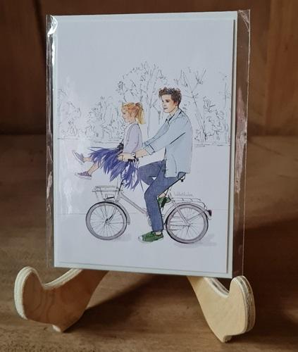 Fahrrad u. Lila