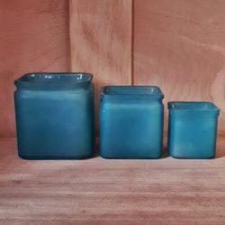 Quadratische Glastöpfe