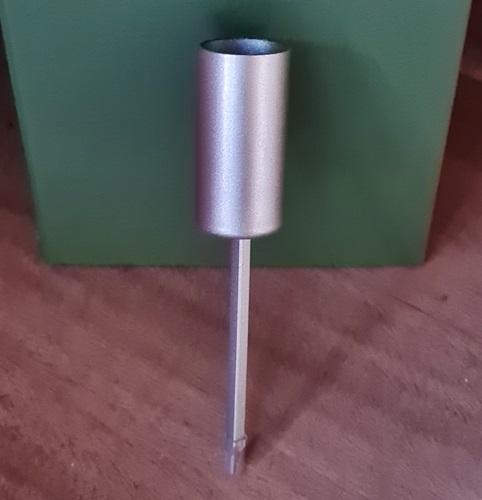 Stabkerzenhalter mit Pin-matt-silber