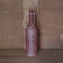 Glasflasche, beleuchtet