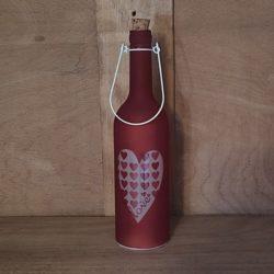Glasflasche beleuchtet