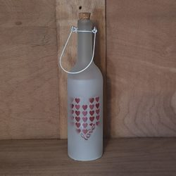 Glasflasche beleuchtete weiss
