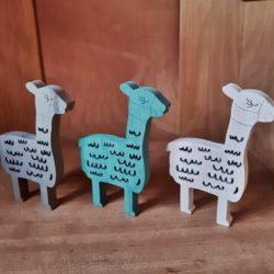 Lama-Herde aus Holz