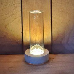beleuchtete Vase