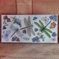Libellen-Leinwandbild,Handgemacht