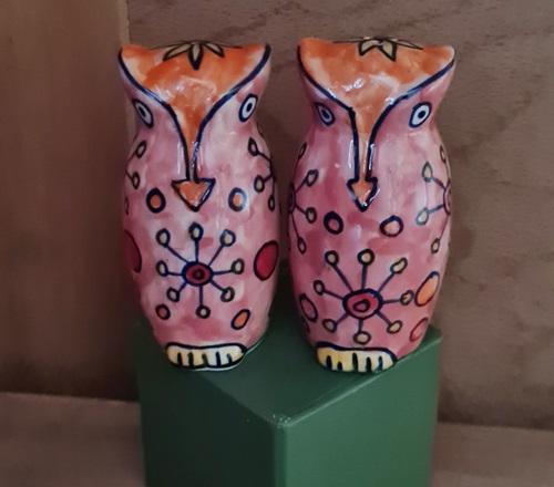 Salz & Pfeffer-Eulen aus Keramik