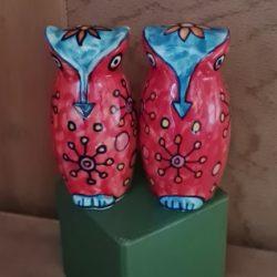 Gewürz-Eulen aus Keramik
