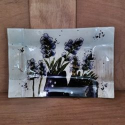 Glasplatte Lavendel
