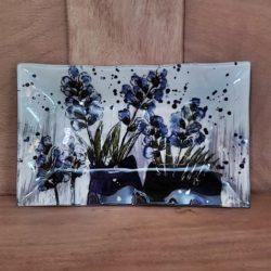 Glasplatte Lavendel-Dekor