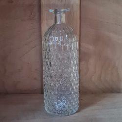 Glas - Vase - gemustert