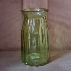 Glas- Vase - Grün