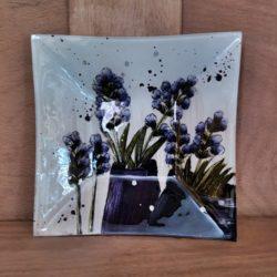 Glasplatte viereckig Lavendel