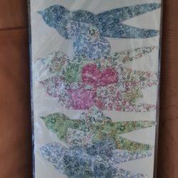 Vogelgirlande aus Papp-Papier