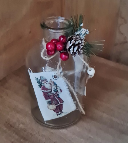 Glas-Vase Weihnachten