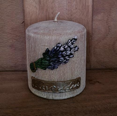 Lavendel - Kerze