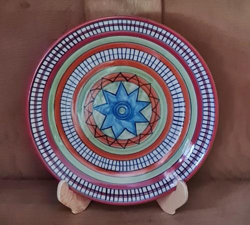 Essteller aus Keramik handbemalt