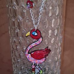 Flamingo-Halskette aus Frankreich