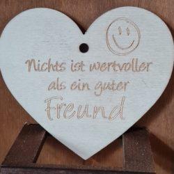Holz Herz mit Spruch