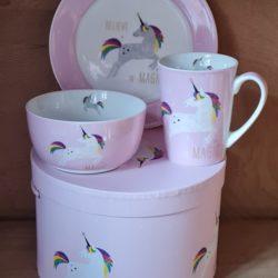 Pink Unicorn Einhorn Porzellan