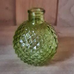 kleine Glasvase grün