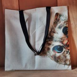 Stoff-Henkel-Tasche Katze