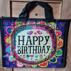 Recycelte Tasche Happy Birthday