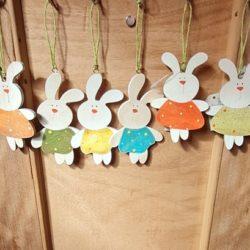 Hasenhänger aus Holz