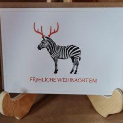 Zebra-Weihnachtskarte