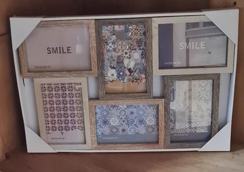 Bilderrahmen aus Holz für 6 Fotos