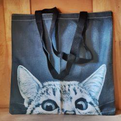Stoff-Tasche mit Katze