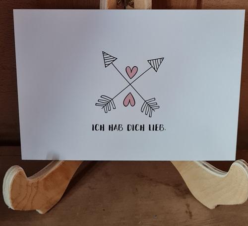 Ich hab Dich lieb,Postkarte