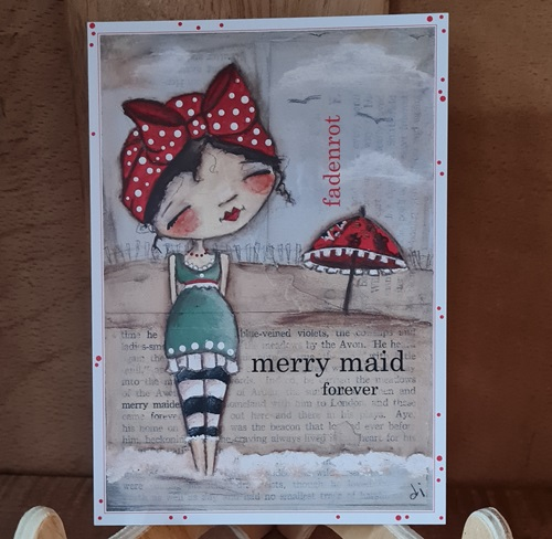 Postkarte Merry Maid