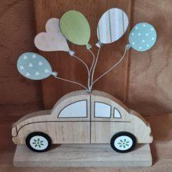 Hochzeits-Auto, Holz, Ballons