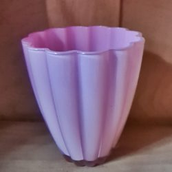 Glasvase rosa
