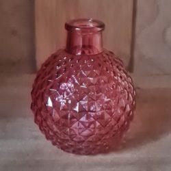 kleine glasvase rosa-rot