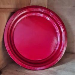 Dekoteller rot lackiert Metall
