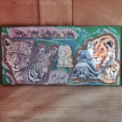 Auf Safari,Bild-Handmade,DIY