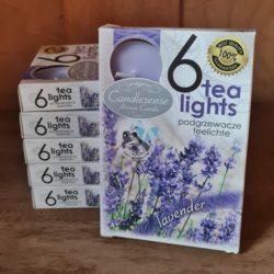 6 Teelichter-Lavendel