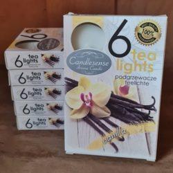 6 Teelichter-Vanille-Duft
