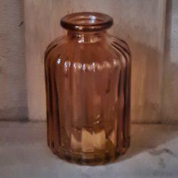 vase orange glas