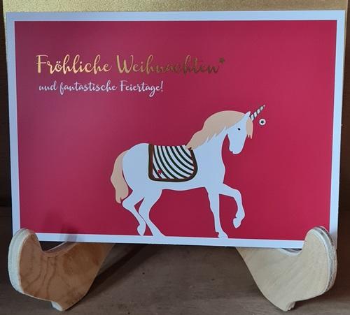 Einhorn-Weihnachtskarte