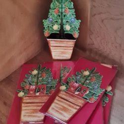 3d - Karte, Weihnachtsbaum
