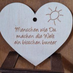 Holz-Herz mit Spruch