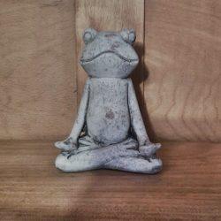 Yoga-Frosch aus Zement